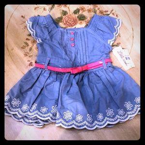 Denim dress and belt set 👧🏼 🎀